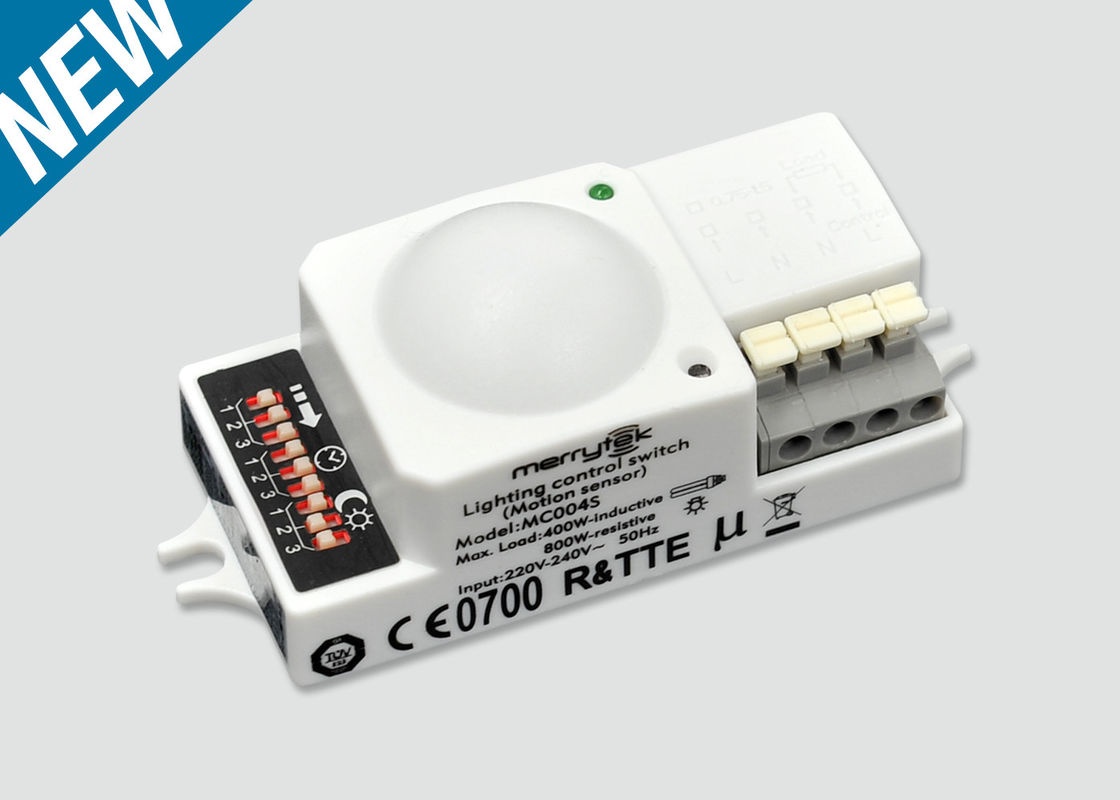 Microwave Motion Sensor MC004S / On-off Contro /Support  Load 400W (Inductive) / 82x36.5x 25.5 mm